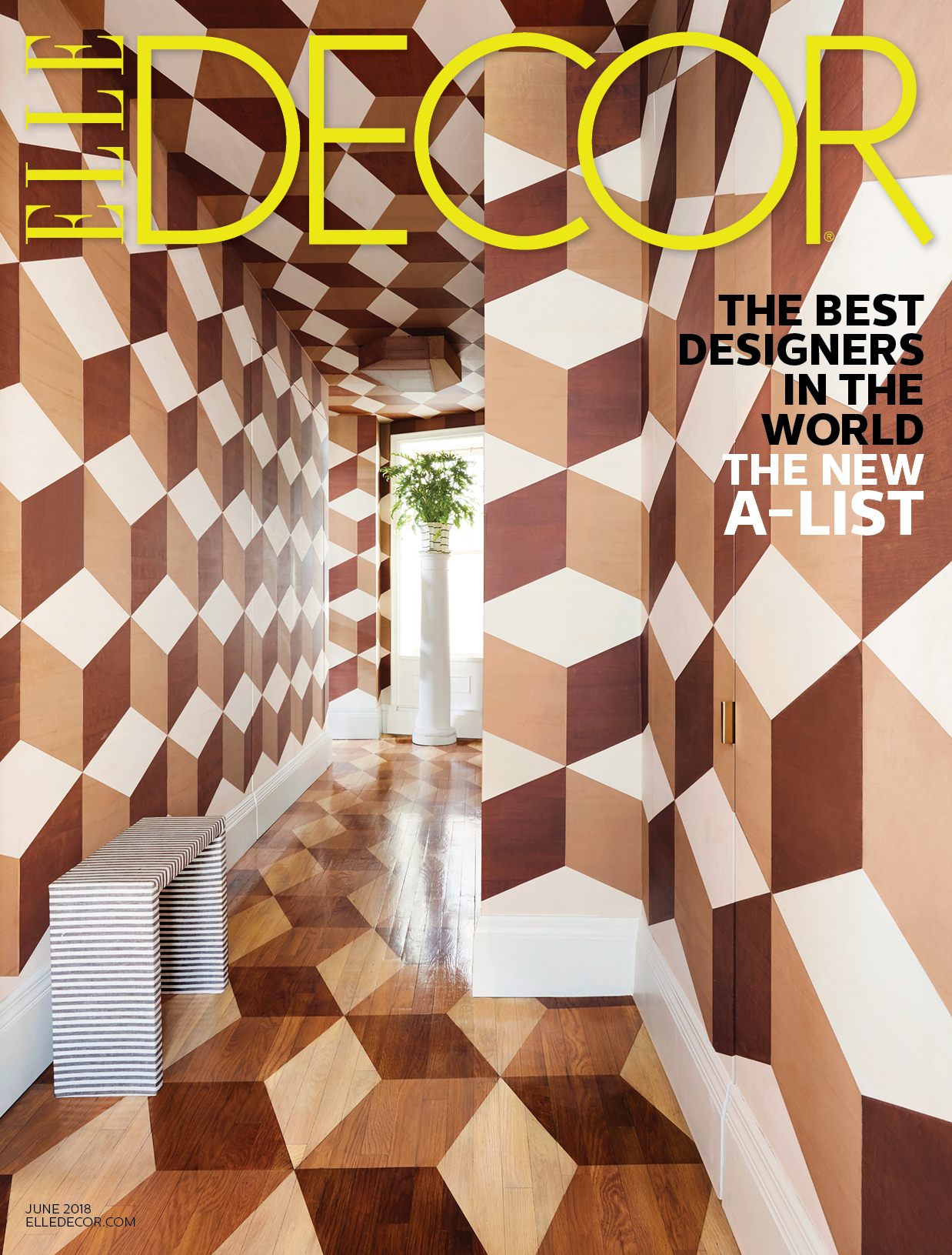 Pub 2018 Elle Decor Usa Cover